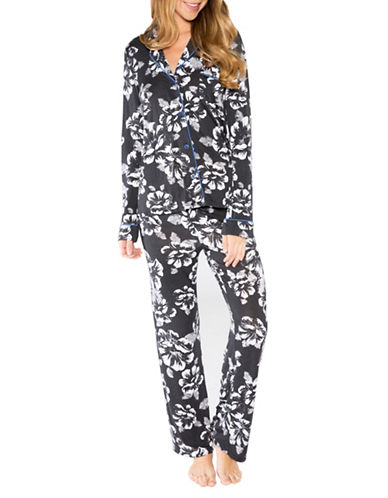 Pj Salvage Royal Romance Floral Pyjama Set-BLACK-X-Large