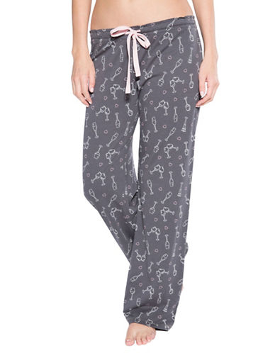 Pj Salvage Love Revolution Graphic Pyjama Pants-GREY-Large
