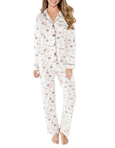 Pj Salvage Love Revolution Printed Pyjamas-NATURAL-Large