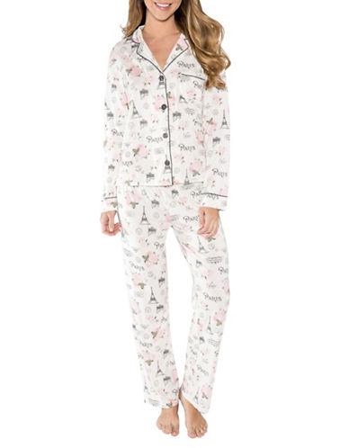 Pj Salvage Love Revolution Printed Pyjamas-NATURAL-Medium