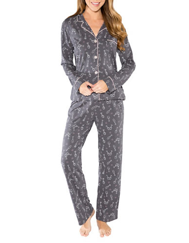 Pj Salvage Love Revolution Printed Pyjamas-GREY-Medium