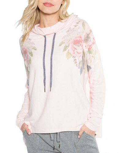 Pj Salvage Love Revolution Floral Hoodie-BLUSH-Medium