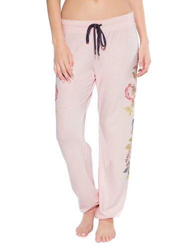 Pj Salvage Love Revolution Floral Pants-BLUSH-X-Large