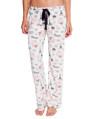 Pj Salvage Love Revolution Graphic Pyjama Pants-NATURAL-Small