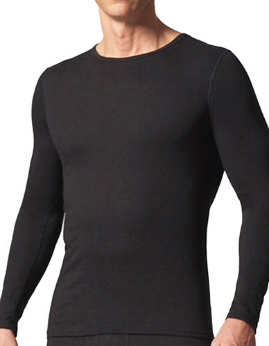 StanfieldS HeatFX Fleece Long Sleeve Top-BLACK-Large