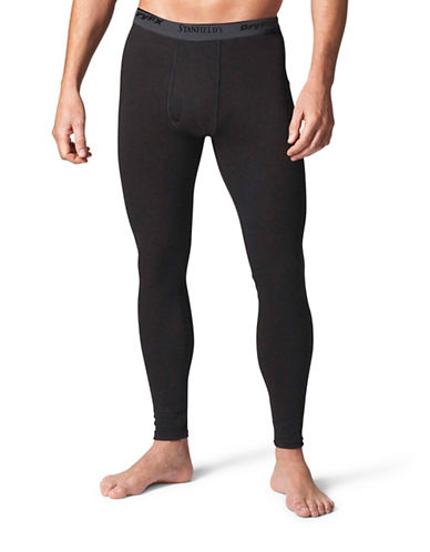 StanfieldS HeatFX Fleece Long Johns-BLACK-Medium