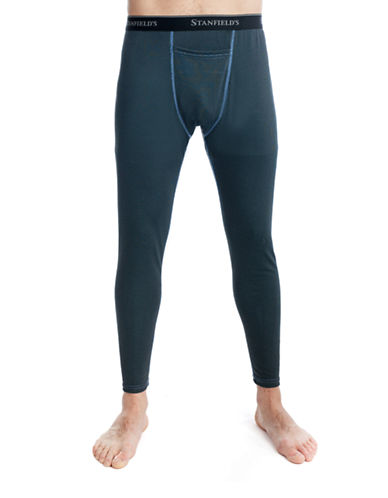 StanfieldS Two-Tone Performance Long Johns-BLACK-Medium