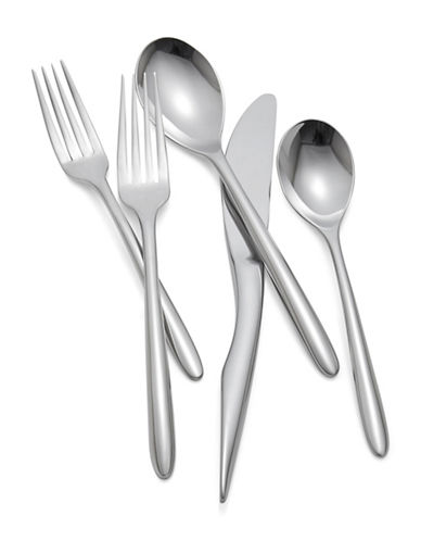 Nambe Five-Piece Dune Stainless Steel Flatware Place Setting-STAINLESS STEEL-One Size