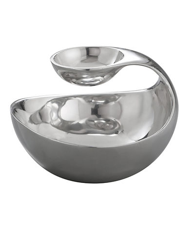 Nambe Scoop Serving Bowl-SILVER-One Size