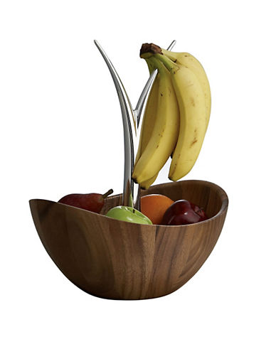 Nambe Fruit Tree Bowl-BROWN-One Size