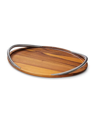 Nambe Braid Serving Tray-WOOD-One Size