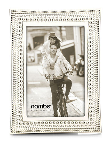 Nambe Beaded Frame 4x6-SILVER-One Size