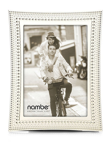 Nambe Beaded Frame 5x7-SILVER-5 x 7