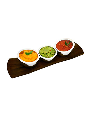 Nambe Trio Condiment Server-ESPRESSO-One Size