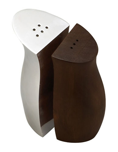 Nambe Cradle Espresso Salt and Pepper Set-BROWN-One Size