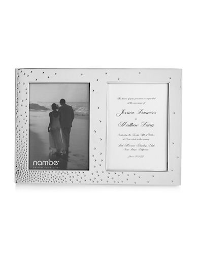 Nambe Dazzle Two-Photo Frame-SILVER-9 x 13