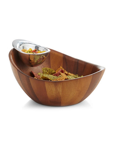 Nambe Harmony Chip and Dip Bowl-WOOD-One Size