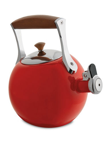 Nambe Meridian Tea Kettle-RED-One Size