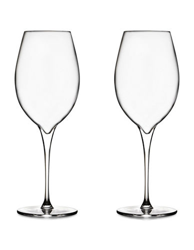 Nambe Set Of Two Vie Pinot Grigio Glasses-CLEAR-One Size
