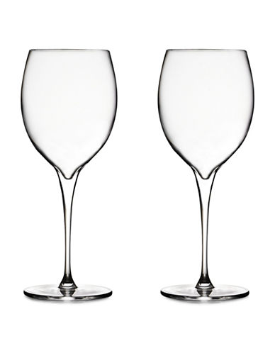 Nambe Set Of Two Vie Chardonnay Glasses-CLEAR-One Size