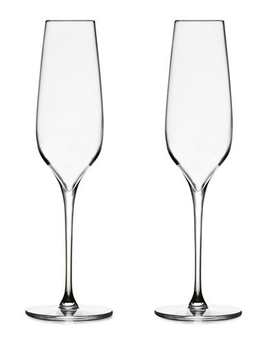 Nambe Set Of Two Vie Champagne Glasses-CLEAR-One Size