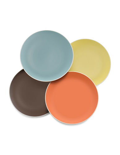 Nambe Pop Colors Four-Piece Accent Plate Set-ASSORTED-One Size