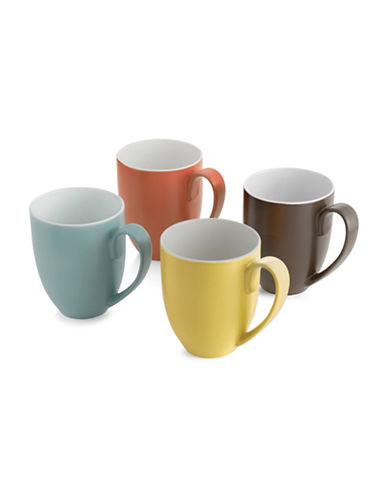 Nambe Pop Colors Four-Piece Mug Set-ASSORTED-One Size