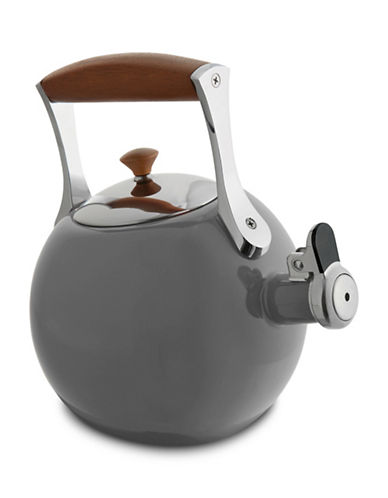 Nambe Stainless Steel and Wooden Meridian Tea Kettle-CHROME-One Size
