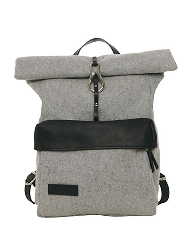 Lowell Dickson Two-Tone Full-Grain Leather Backpack-GREY-One Size