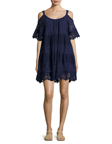 Muche Et Muchette Nilsen Off-Shoulder Dress-BLUE-One Size