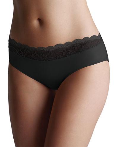 Wonderbra Scalloped Lace Hipster Panties-BLACK-Medium