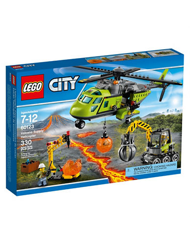 Lego City Volcano Explorers Volcano Supply Helicopter 60123-MULTI-One Size