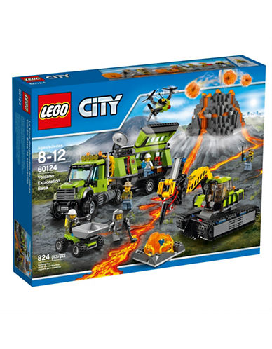 Lego City Volcano Explorers Volcano Exploration Base 60124-MULTI-One Size