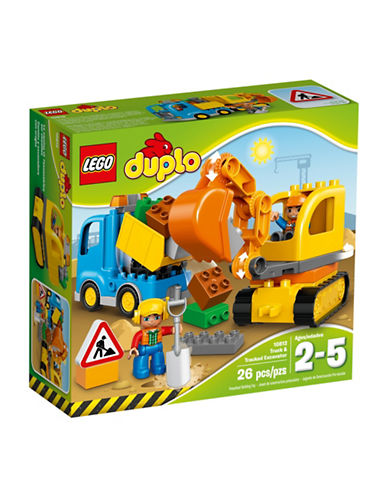 Lego Duplo Town Truck & Tracked Excavator 10812-MULTI-One Size