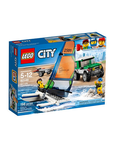 Lego City Great Vehicles 4x4 with Catamaran 60149-MULTI-One Size