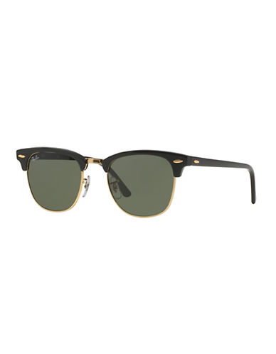 Ray-Ban Classic Clubmaster Sunglasses-BLACK GOLD-51 mm