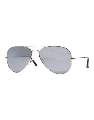 Ray-Ban Original Classic Aviator Sunglasses-SILVER MIRRORED-58 mm