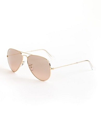 Ray-Ban Original Classic Aviator Sunglasses-ARISTA GOLD/PINK MIRRORED LENSES (001/3E)-58 mm