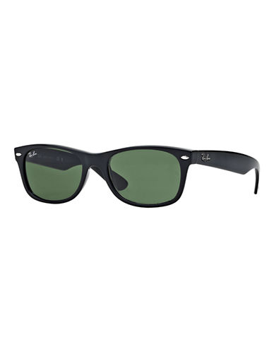 Ray-Ban 55mm Square Wayfarer Sunglasses-SHINY BLACK (901)-52 mm
