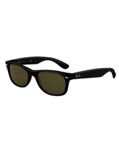 Ray-Ban 55mm Square Wayfarer Sunglasses-SHINY BLACK (901L)-55 mm