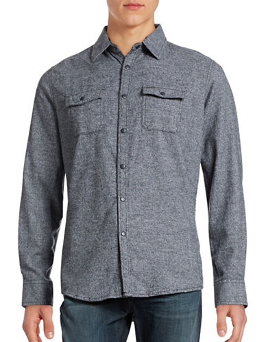 Point Zero Long Sleeve Flannel Shirt-BLACK-Small 88608872_BLACK_Small