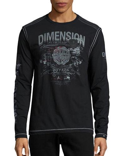 Point Zero Graphic Long Sleeve Sweatshirt-BLACK-X-Large 88491395_BLACK_X-Large