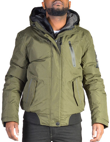 Point Zero Polyfill Ripstop Bomber Jacket-GREEN-Large 88830899_GREEN_Large