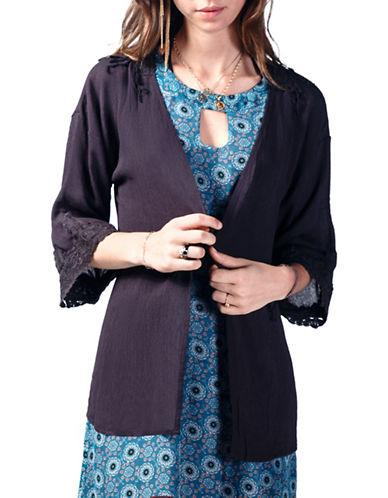 California Moonrise Crochet Open Front Jacket-GREY-Small 88497142_GREY_Small
