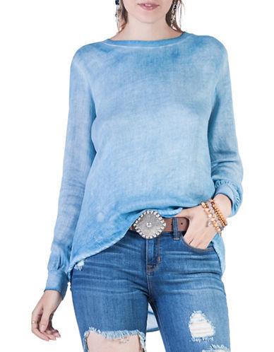 California Moonrise Vintage Garment Wash Top-LIGHT BLUE-Small plus size,  plus size fashion plus size appare