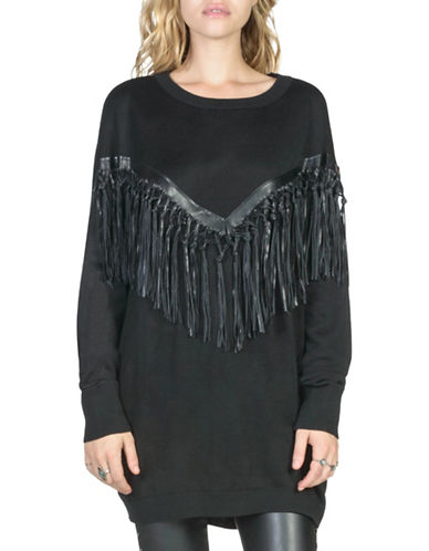 California Moonrise Fringe-Trimmed Longline Pullover-BLACK-Large 88737736_BLACK_Large