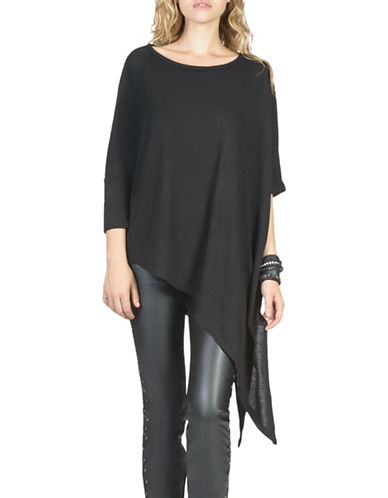 California Moonrise Asymmetrical Knit Top-BLACK-X-Small 88737697_BLACK_X-Small