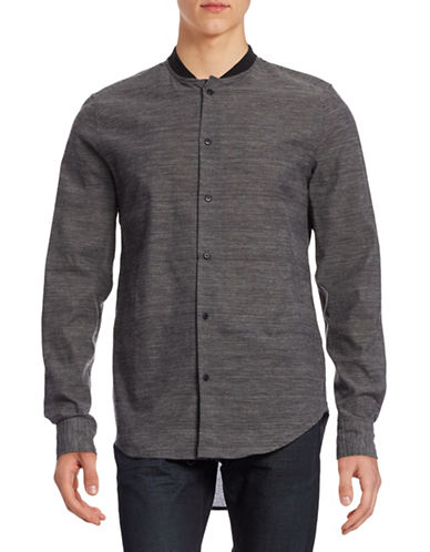 Mattson Elongated Baseball Collar Shirt-MID GREY-Small 88391423_MID GREY_Small