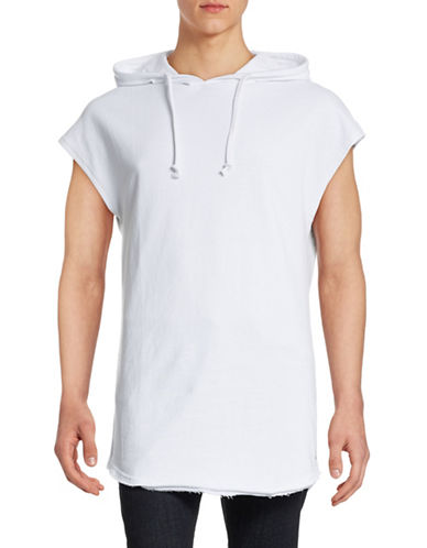 Mattson Sleeveless Elongated Hoodie-WHITE-Medium 88391432_WHITE_Medium
