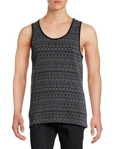 Mattson Tribal Print Reversible Tank Top-BLACK-Medium 88391921_BLACK_Medium